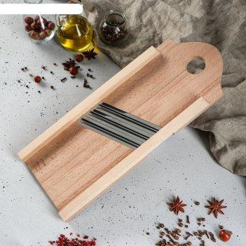 Шинковка деревянная с тремя ножами из нерж., стали, бук 40х15см