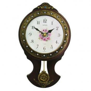 Настенные часы для кухни с маятником sinix 2109