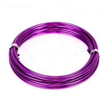 Проволока бонсайная,2 мм х 5 м, фиолетовый