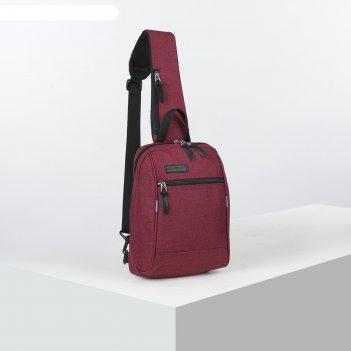 Рюкзак молод с лямкой м-394, 21*9*30, отд на молнии, н/карман, бордовый