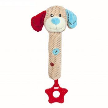 Пищалка с прорезывателем жирафики «собачка билли»