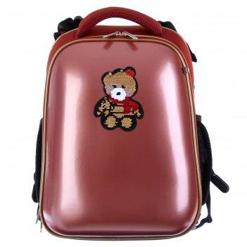 Рюкзак каркасный, devente choice, 38 х 28 х 16 см, иск кожа glamour bear,