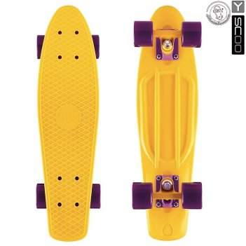 "401-y скейтборд y-scoo fishskateboard 22"" винил 56,6х15 с сумкой yell"