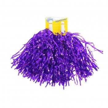 Набор помпонов (2 шт) гофрированные, фиолетовый цвет