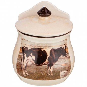 Банка для сыпучих продуктов коллекция farm house 550 мл 11*9*14 см