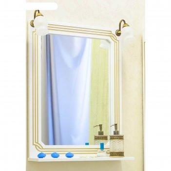 Зеркало каир 60 белый/патина золото