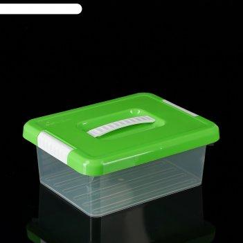 Контейнер для хранения 3 л standart, с ручкой, цвет салатовый