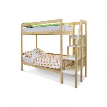 Детская двухярусная кровать бельмарко svogen натура