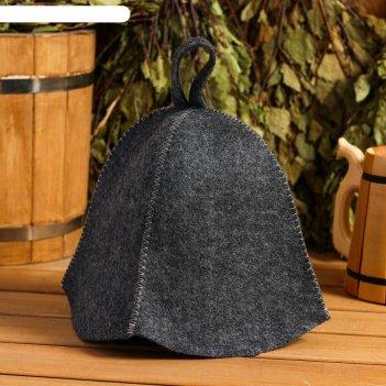 Банная шапка колокольчик, серая
