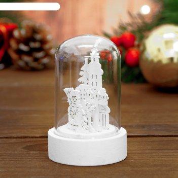 Декор с подсветкой снеговик