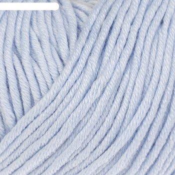Пряжа baby cotton xl 50% хлопок, 50% полиакрил 105м/50гр (3429 серо-голубо
