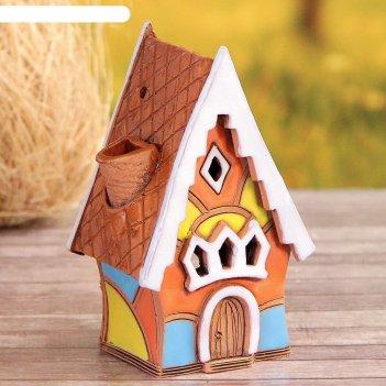 Аромалампа домик «пряник», ручная работа, микс