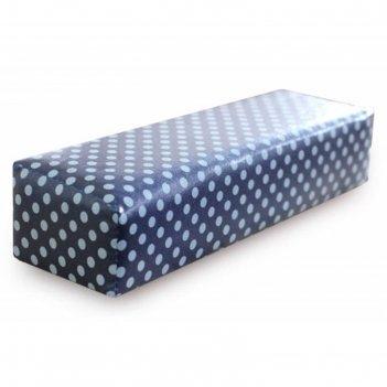 Валик для маникюра, размер 30 х 9 х 7 см, цвет синий в горох