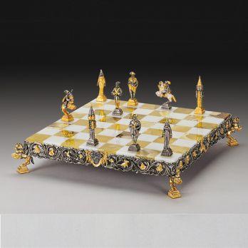 Шахматы «гулливер в стране лиллипутов» в подарочном футляре