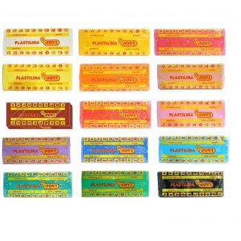 Пластилин 50 г jovi «классика», 15 цветов, микс (цена за 1 брусок)