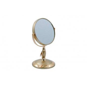 Зеркало* b4906 g5/g gold настольное 2-стор. 3-кр.ув. 12,5 см