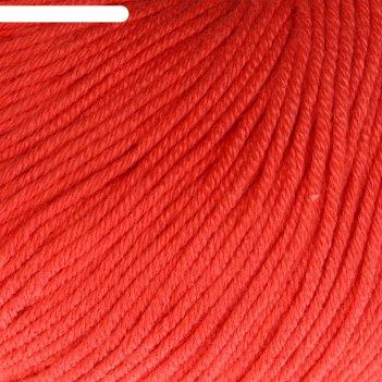 Пряжа baby cotton 60% хлопок, 40% полиакрил 165м/50гр (3418  коралловый)