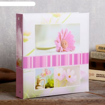 Фотоальбом  магнитный 23х28 см. 50 листов, цветы