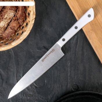 Нож кухонный samura harakiri универсальный, лезвие 150 мм, белая рукоять