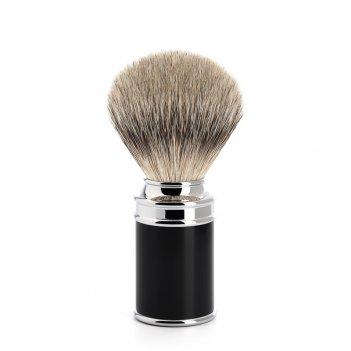 Помазок traditional  барсучий ворс высшей категории silvertip, черная смол