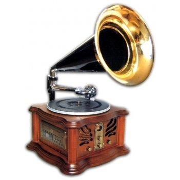 Ретро-проигрыватель gramophone-i (cd/mp3//turnable/radio/tap