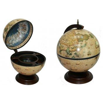 Глобус бар сокровища древнего мира настольный d=42см, 41*41*