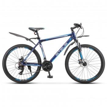 Велосипед 26 stels navigator-620 md, v010, цвет темно-синий, размер 19
