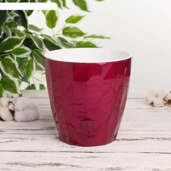 Кашпо с прикорневым поливом ruby, 3 л, цвет фуксия