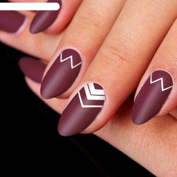 Трафареты для ногтей «зиг-заг», 2 вида