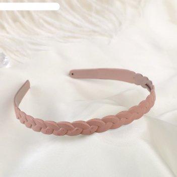 Ободок для волос матовый блик 1 см коса, микс