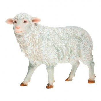 Фигура декоративная садовая овечка на ногах l50w25h41 см