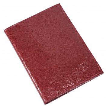 Обложка для автодокументов, размер 9,5 х 13 см, цвет красный перламутр
