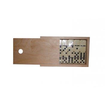 Домино турнирное d6 в деревянном пенале