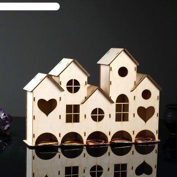 Заготовка для декупажачайный домик низкий пятикомнатный 43 х 29 х 10