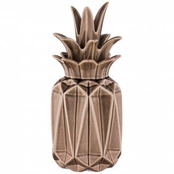 Ваза с крышкой ананас  высота=32 см (кор=12шт.)