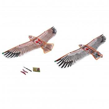 Воздушный змей орел в полете с леской