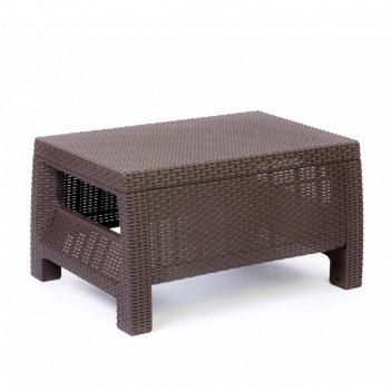 Стол «ротанг», 76,5 x 57 x 42 см, пластик, цвет шоколад