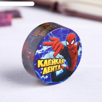 Декоративная клейкая лента бумажная самый смелый, человек паук, 1,5 см х 1