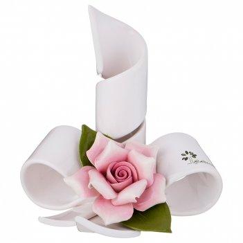 Подсвечник розы 14*12,5 см. высота=15 см.