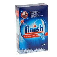 Соль finish salt для защиты посудомоечной машины 1.5 кг
