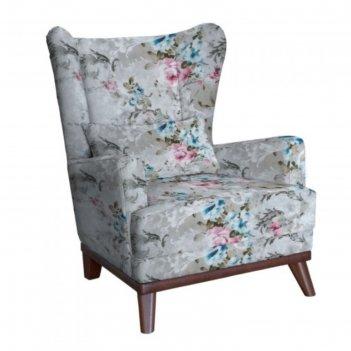 Кресло оскар, велюр розы