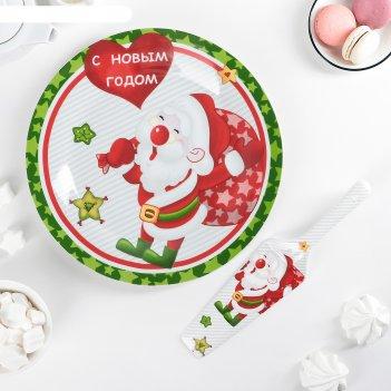 Тортовница с лопаткой новогоднее угощение
