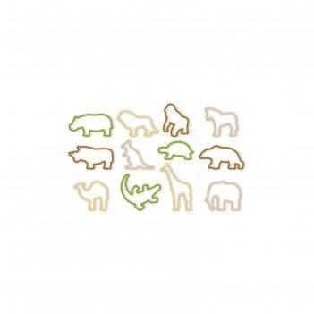 Формочки tescoma zoo delicia kids для выпечки, пластик, 12 штук