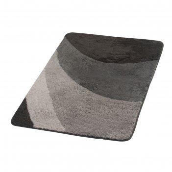Коврик для ванной комнаты tokio, цвет серый 60х90 см