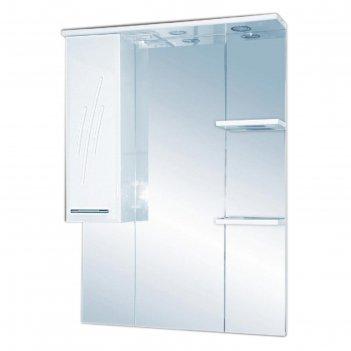 Шкаф-зеркало misty флори 90, левый, с подсветкой