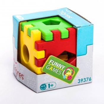 Игрушка-сортер развивающая волшебный куб, 12 элементов