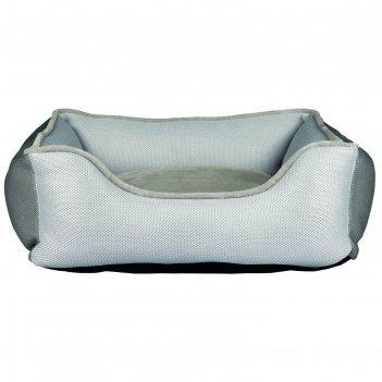 Лежак-кровать aiko, 75 x 65 см, светло-серый/серый