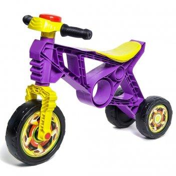 Ор171 каталка-беговел самоделкин 3 колеса с клаксоном фиолетовая