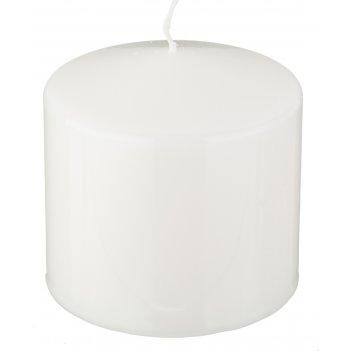 Свеча высота=10 см.диаметр=10 см.белая