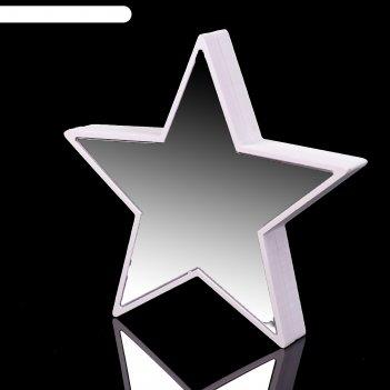 Ночник звезда с эффектом бесконечности 25хled от usb белый 2,7х18х17 см